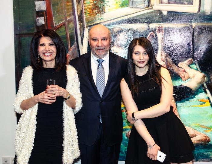 Η Νάσια και ο Κώστας Ευριπίδης με την κόρη τους Ειρήνη Ευριπίδου