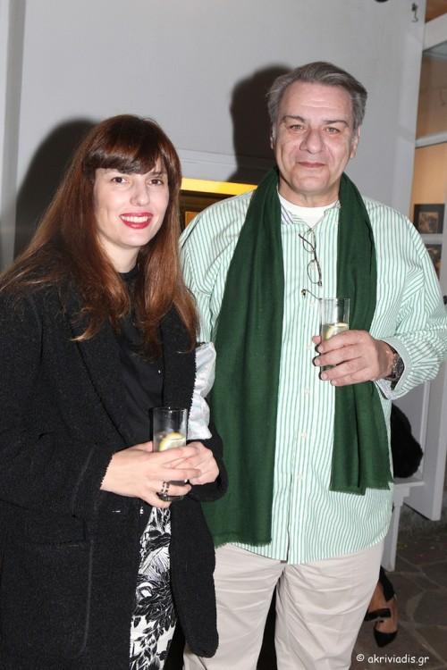 Η Μαριλένα Αστραπέλλου και ο Γιώργος Καλόφωνος.
