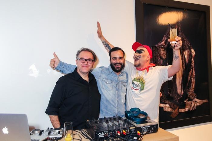 Οι τρεις dj's: Σπύρος Παγιατάκης, Νίκος Μορφέσης και Ντίνος Γκουτζουλούς