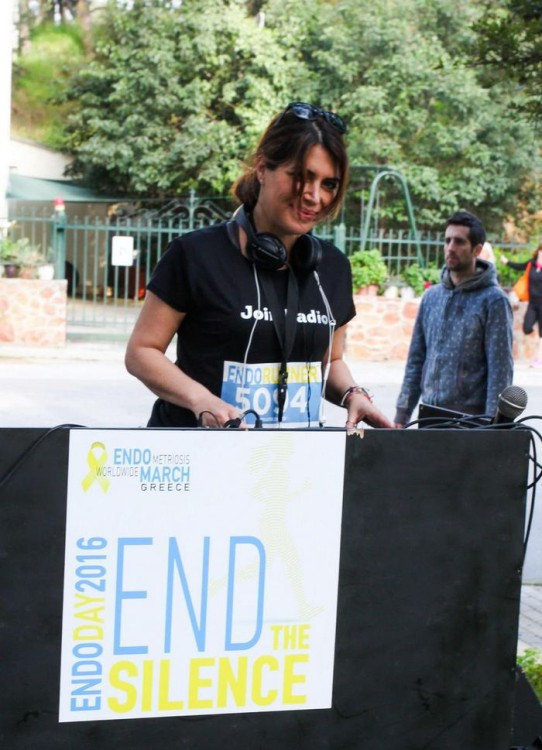 : H Αφροδίτη Σημίτη, ιδιοκτήτρια του Join Radio (χορηγός επικοινωνίας του EndoDay) on the decks κατά την διάρκεια της εκδήλωσης