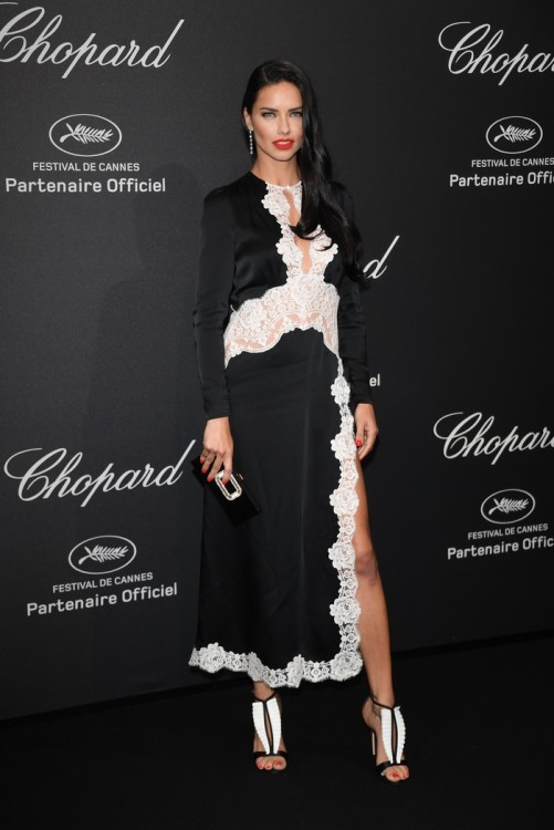 CANNES, FRANCE - MAY 16: Adriana Lima attends Chopard Wild Party as part of The 69th Annual Cannes Film Festival at Port Canto on May 16, 2016 in Cannes, France. (Photo by Daniele Venturelli/Getty Images) *** Local Caption *** Adriana Lima