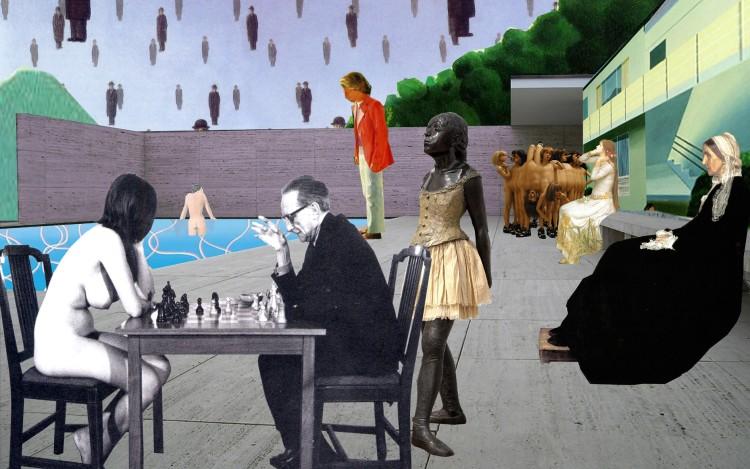Artemis Potamianou, Re-view series_Chess Game, 70x43cm