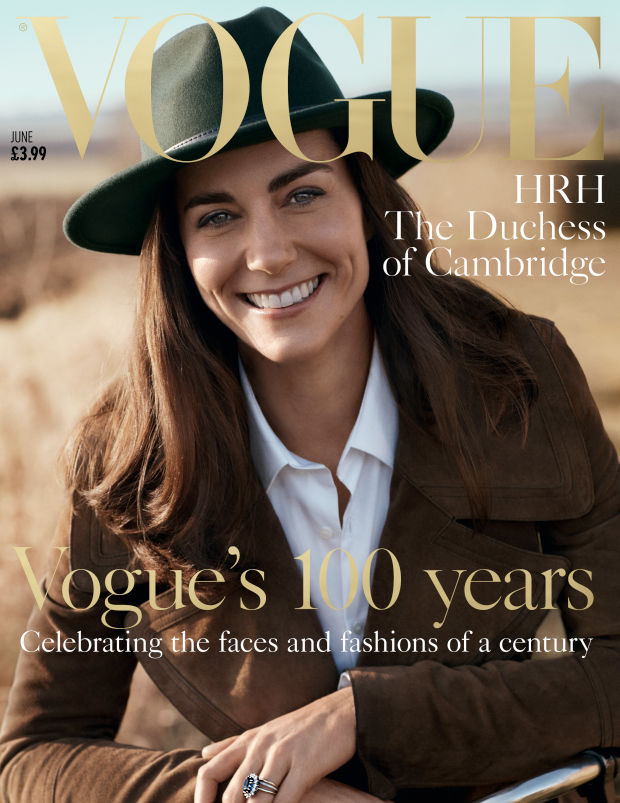 The Duchess of Cambridge posed for the magazine's June issue in collaboration with the National Portrait Gallery!
