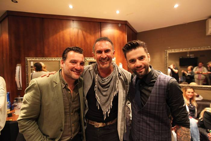 George Leventis, Antonio Armani of Attica Entertainment, Thodoris Marantinis