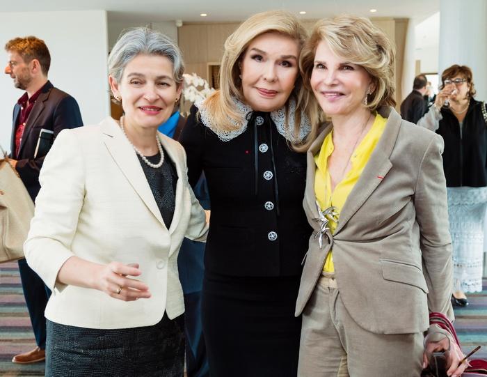 Irina Bokova, Μαριάννα Β. Βαρδινογιάννη, Hedva Ser