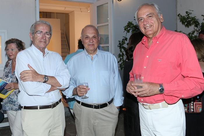 Ο Αντώνης Μαρκεζίνης, ο Σπύρος Πολλάλης και ο Σπύρος Σπυρίδων