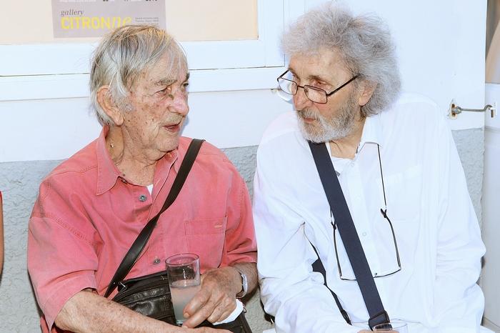 Οι ζωγράφοι Δημοσθένης Κοκκινίδης και Σωτήρης Σόρογκας