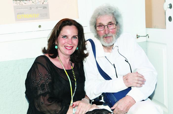 Η διευθύντρια της γκαλερί Citronne και ιστορικός τέχνης, Τατιάνα Σπινάρη – Πολλάλη και ο ζωγράφος Σωτήρης Σόρογκας