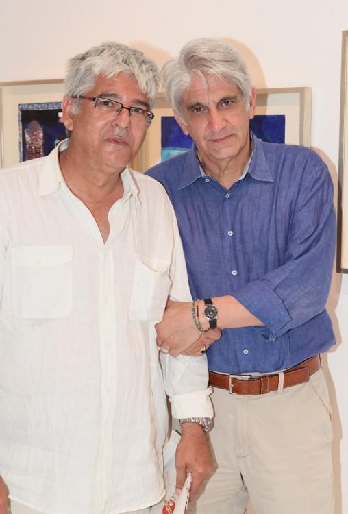 Ο ζωγράφος Τάσος Ματζαβίνος και ο Διονύσης Καψάλης