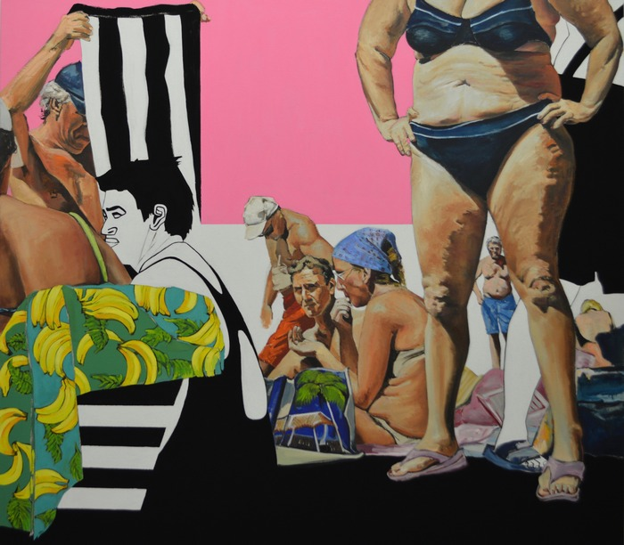 pretty in pink / 180x160 cm / mixed media on canvas / 2015