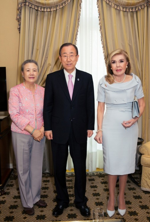 Mrs. BanKi-moon, Mr. BanKi-moon, κ. Μαριάννα Β. Βαρδινογιάννη