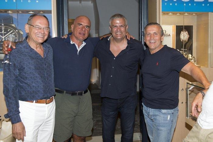 Γιάννης Γκόφας ,Peter Maneas (CEO της Ganellen), Ricardo Guadalupe (CEO της Hublot), Terry Andriotakis
