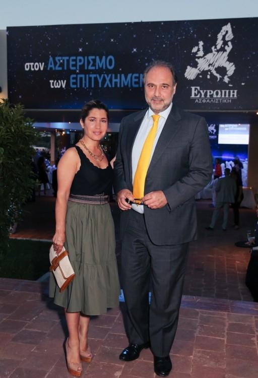 Γιασμίν Οικονομοπούλου και Χάρης Οικονομόπουλος (Πρόεδρος Ελληνοβρετανικού Επιμελητηρίου)
