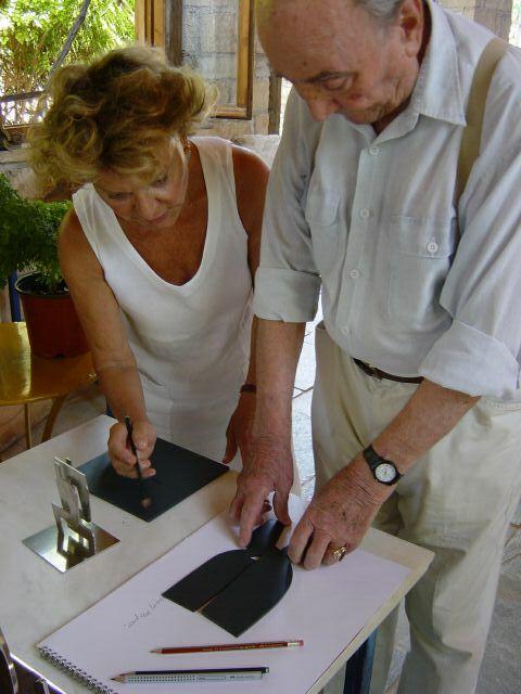Πέγκυ Ζουμπουλάκη, Γιάννης Μόραλης, Καλοκαίρι 2004, στην Αίγινα