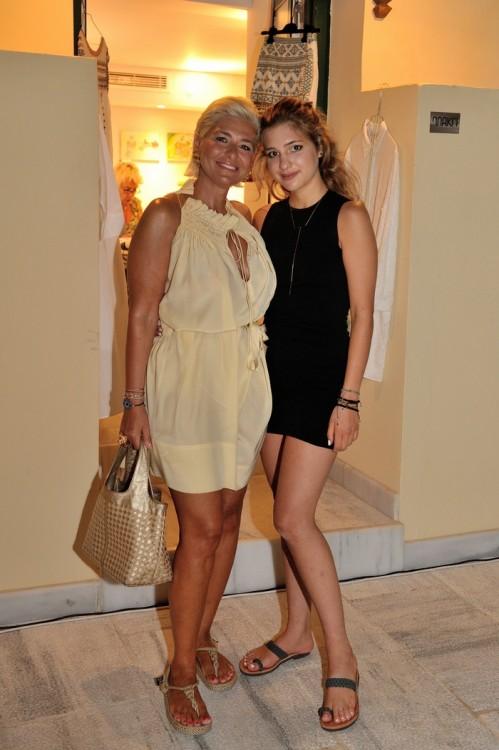 Η Νάντια Δαυίδ με την κόρη της, Αύρα