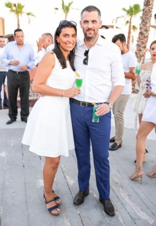 Ο Ζάκης Σαράντης με τη σύζυγό του, Μπερνάντα