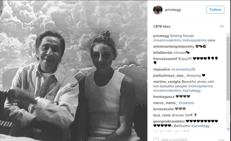 O Valentino και η Olivia Palermo στο εστιατόριο του Χρήστου Ορλώφ