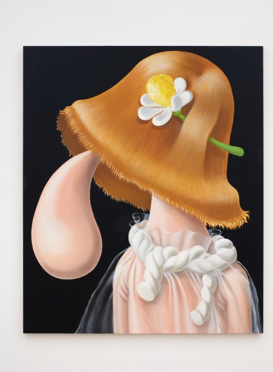 Louise Bonnet The Daisy 2016 Oil on canvas 60 x 72 inches (152.4 x 182.9 cm) Courtesy of Louise Bonnet and MIER Gallery.
