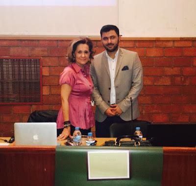 Οι ομιλητές της ημερίδας Τζίνα Θανοπούλου και Αντώνιος Καλέντζης