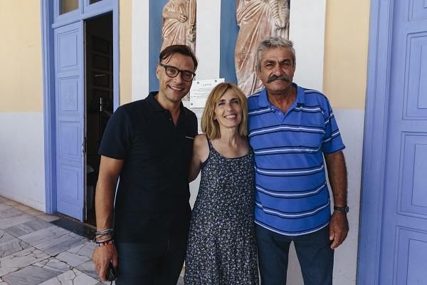 Ο Κωνσταντίνος Βαρβιτσιώτης με την Μπέτυ Μούζακ & το Δήμαρχο Μεγίστης, κ. Γιώργο Σαμψάκο