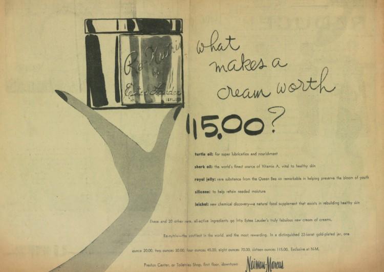 Η αυθεντική διαφήμιση του 1956, όταν λανσαρίστηκε για πρώτη φορά η Renutriv! Τότε, οι κρέμες προσώπου κόστιζαν γύρω στα