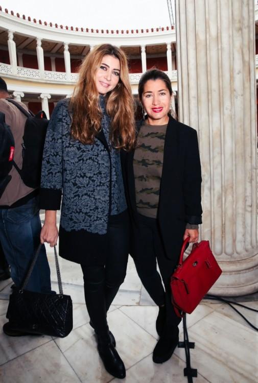 Η σχεδιάστρια κοσμημάτων Αντωνία Καρρά με την Γιασμίν Οικονομοπούλου