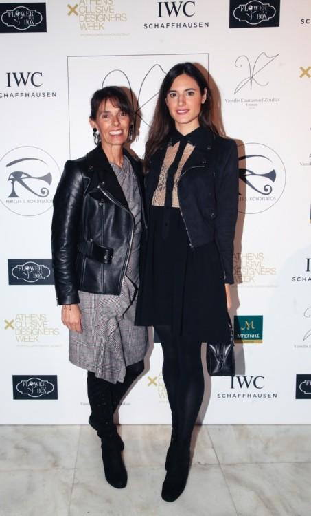 H Καρίνα Γκέρτσου με την κόρη της Λένα Οικονομίδη Γκέρτσου