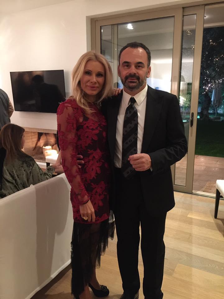 Η Στέλλα Βουλγαράκη, και ο Σπύρος Μάγρας σε ένα υπέροχο house warming party! Χρόνια πολλά Στελίτσα!