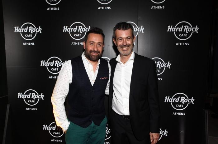 Θέμης Γεωργαντάς, Stefano Pandin, Director of Operations Europe της Hard Rock International
