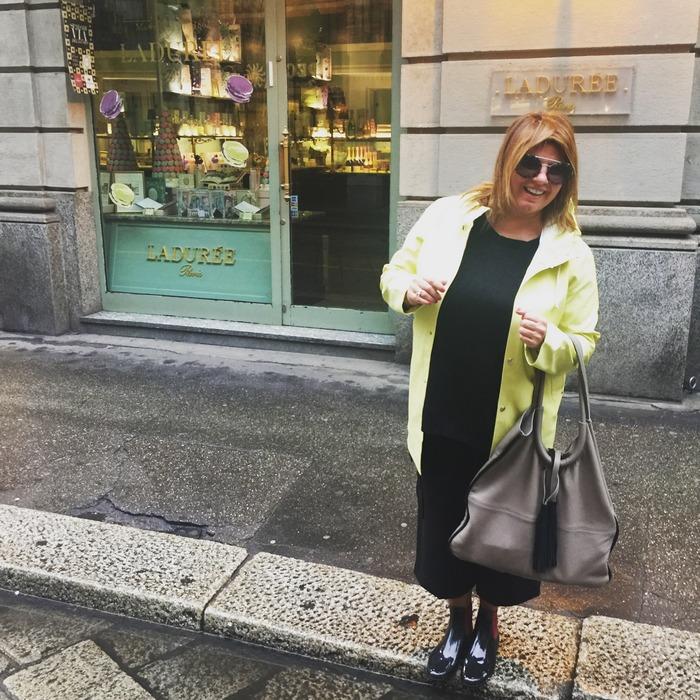 Raincoat: Stutterheim, Bag: Park House, Wellis: Missoni, Sunglasses: Prada