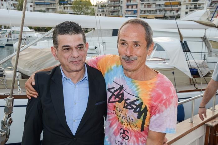 Ο διευθυντής ξενοδοχειακών πωλήσεων της Coco – Mat, Γιώργος Νικολαΐδης και ο ιδρυτής της Coco – Mat, Πωλ Ευμορφίδης