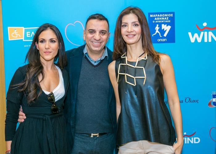 Η δημοσιογράφος Ανθή Βούλγαρη με τον Στέλιο Κωνσταντινίδη και την Κατερίνα Λέχου