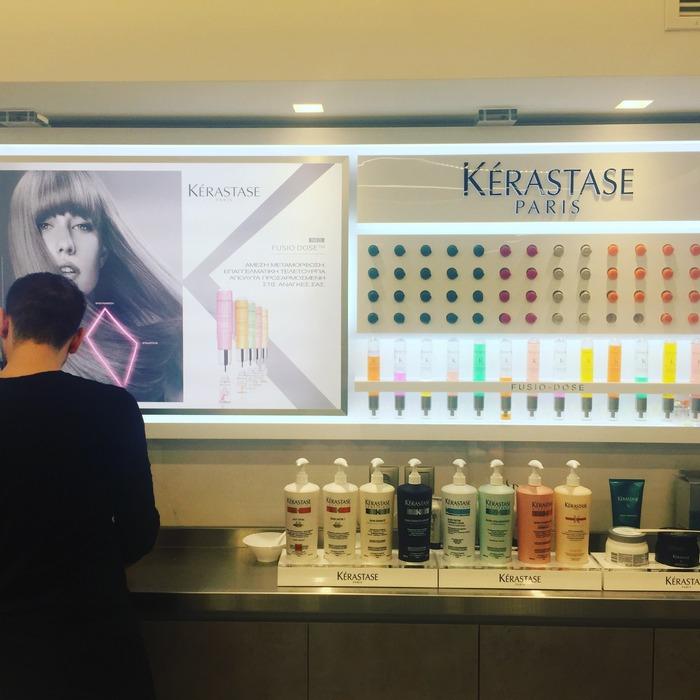"""Το ευγενέστατο και εξυπηρετικό προσωπικό του Hair Salon """"Gino"""" με οδηγεί στους ειδικά διαμορφωμένους χώρους όπου γίνονται οι θεραπείες της Kerastase..."""