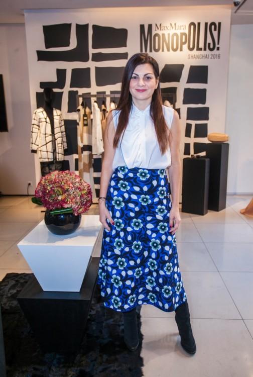 Η editor in chief του missbloom.gr & blogger Ελένη Στασινοπούλου με Sportmax outfit