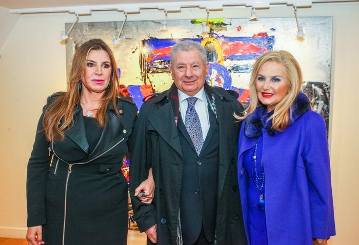 Το ζεύγος Βαλυράκη με την Δέσποινα Γιαννακοπούλου –όμιλος Βιανέξ - Γιαννακόπουλος