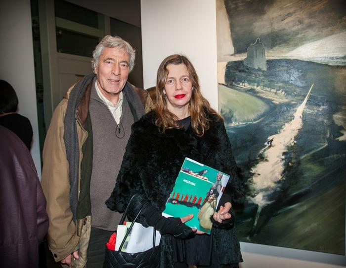 Ο ζωγράφος Παύλος Σάμιος και η Ιστορικός Τέχνης Ίρις Κρητικού.