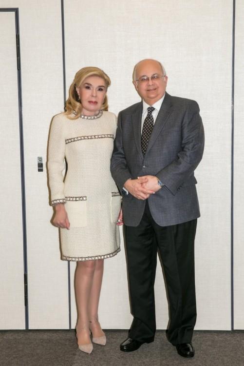Ο Διευθυντής της Βιβλιοθήκης της Αλεξάνδρειας Δρ. Ismail Serageldin και η Πρέσβυς Καλής Θελήσεως της UNESCO κυρία Μαριάννα Β. Βαρδινογιάννη.