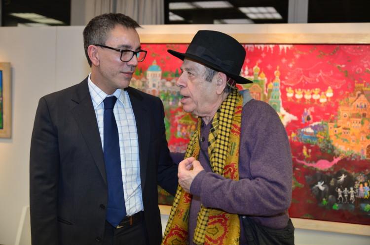 Ο Γενικός Διευθυντής των Εκπαιδευτηρίων «Ελληνογερμανική Αγωγή» κ.Σταύρος Σάββας μαζί με τον ηθοποιό κ. Ηλία Λογοθέτη