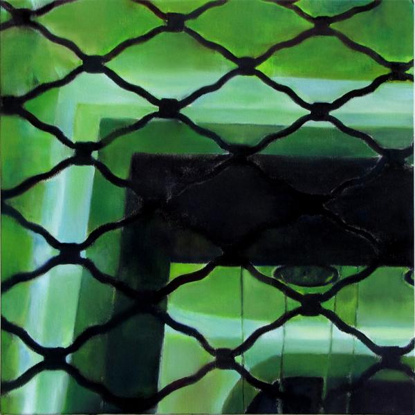 Sotiris Panousakis, Green Room, 2016, oil on canvas, 50x50cm_Courtesy of CAN Christina Androulidaki gallery_1