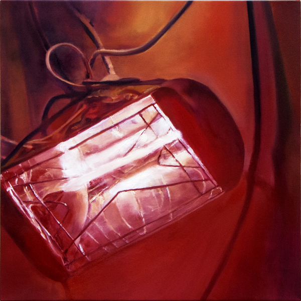 Sotiris Panousakis, Red Light, 2016, oil on canvas, 50x50cm_Courtesy of CAN Christina Androulidaki gallery