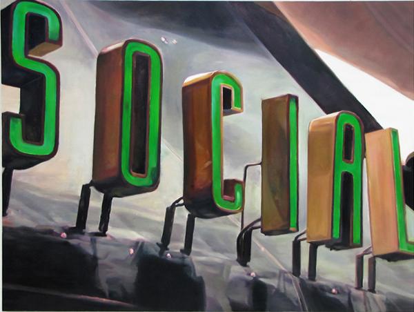 Sotiris Panousakis, SOCIAL, 2010, oil on canvas, 135x180cm_Courtesy of CAN Christina Androulidaki gallery