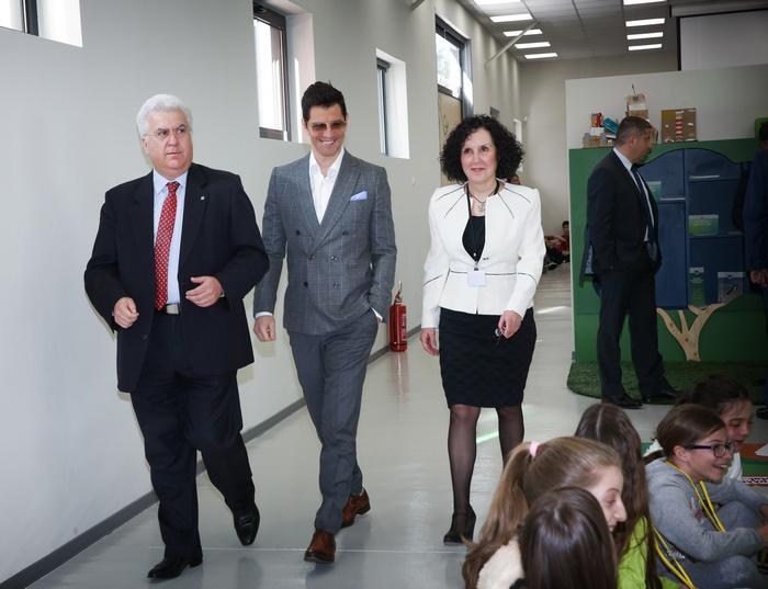 Ο Παύλος Ραβάνης, Πρόεδρος του ΔΣ της Ανταποδοτικής Ανακύκλωσης, ο Σάκης Ρουβάς και η Αγγελική Μαρτίνου, Υπεύθυνη του Εκπαιδευτικού Προγράμματος του Πάρκου Ανακύκλωσης