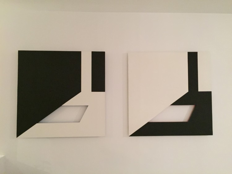 space positif-Espace negatif 1979 ακρυλικό σε ξύλο 75x75 cm x2