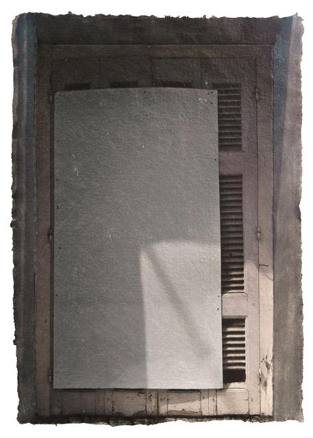 Windows Miserere 15, 2016. Digital pigment print on handmade indian paper, oil, graphite, balsa. 29x21 cm (1)