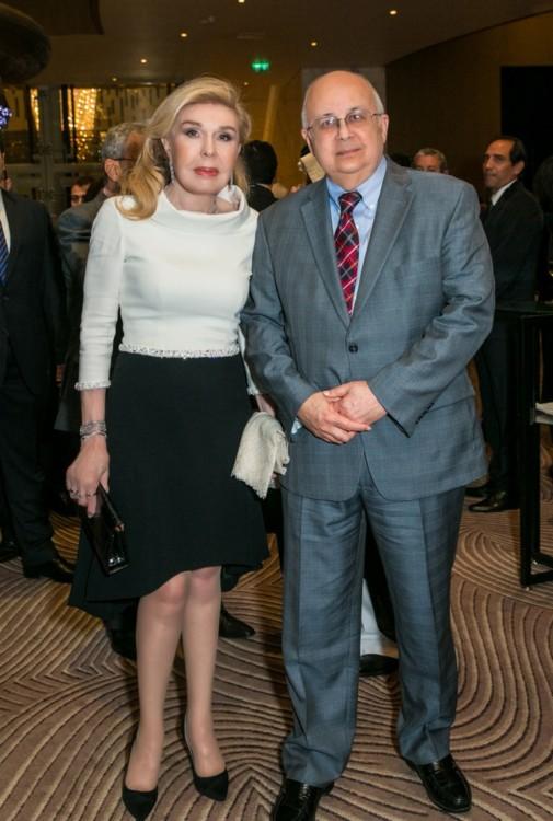 Μαριάννα Β. Βαρδινογιάννη με τον Διευθυντή της Βιβλιοθήκης της Αλεξάνδρειας Δρ. Ismail Serageldin