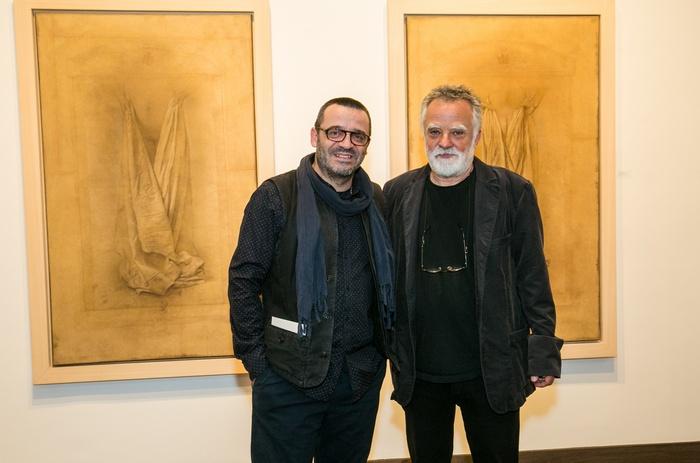 Ο φωτογράφος Νίκος Βαβδινούδης και ο ζωγράφος Μίλτος Παντελιάς