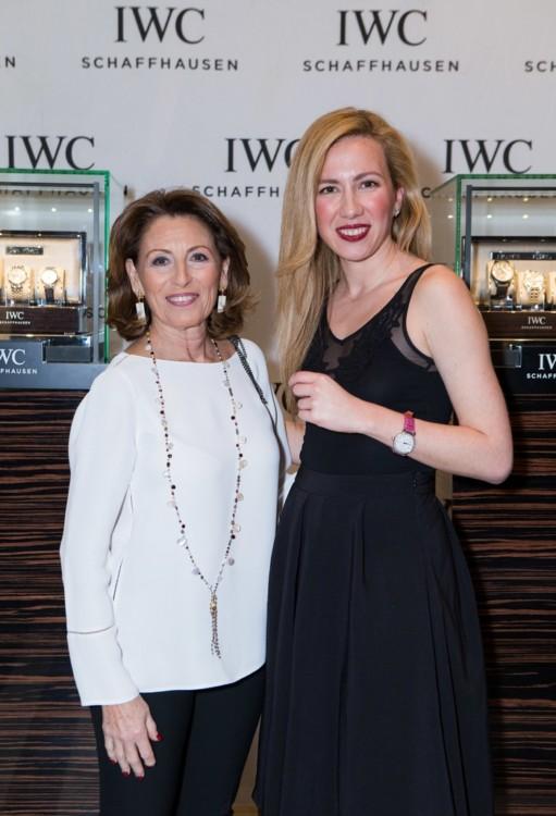 Η Άννα Ανδρεάδη και η Έλενα Δεδούση, IWC Marketing Manager Greece & Cyprus