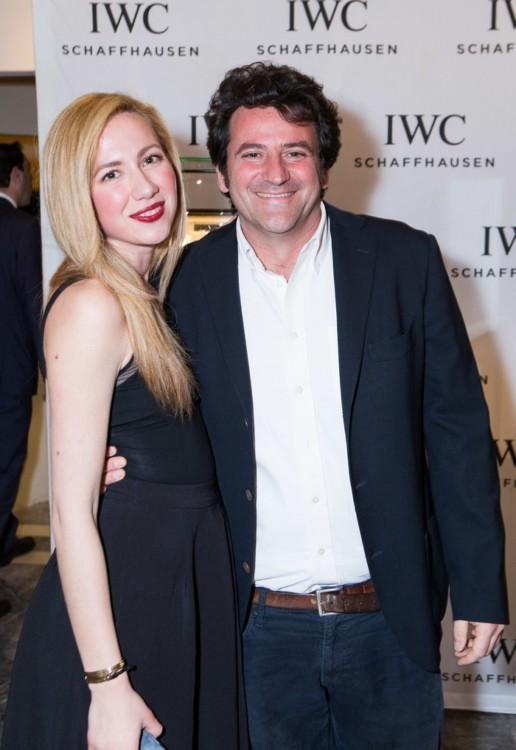 Η Έλενα Δεδούση, IWC Marketing Manager Greece & Cyprus και ο Αντώνης Βορδώνης, Διευθύνων Σύμβουλος «Poseidonion Grand Hotel».