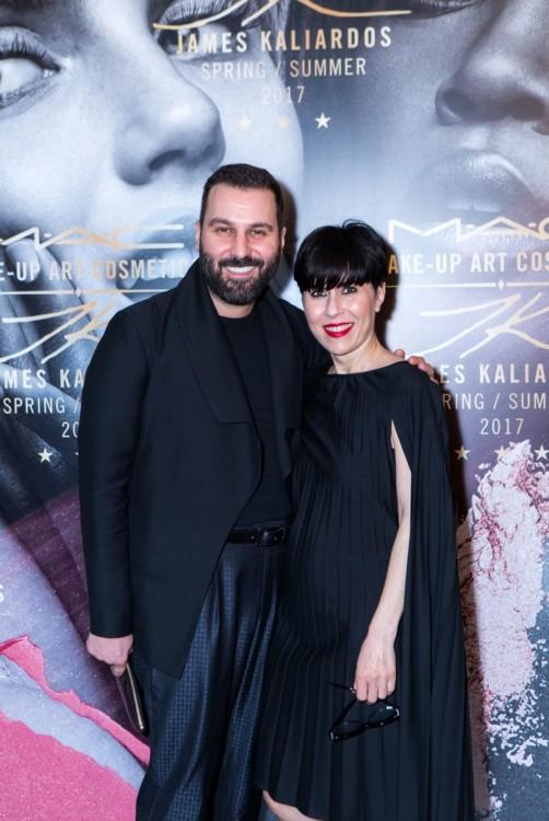 Κώστας Βογιατζής (Yatzer) και Αλεξάνδρα Σπυριδοπούλου, MAC senior artist